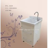欧金洗衣柜9053/陶瓷台盆/木质柜体