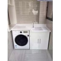 洗衣柜9013-1/人造石台盆/存放滚桶式洗衣机