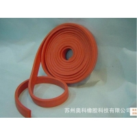 长期供应 防火发泡硅胶海绵条 发泡硅胶自粘密封条红色硅胶发泡