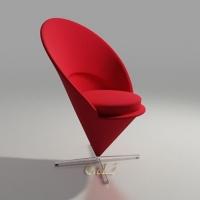 设计师休闲椅心形锥形椅