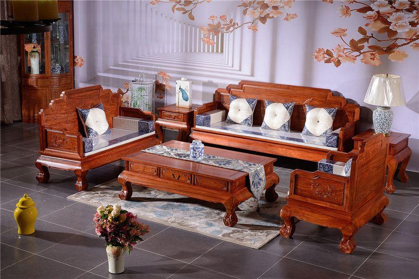 东阳红木沙发-红木沙发品牌-客厅花梨木沙发