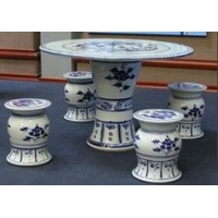 景德镇青花瓷休闲瓷器家具桌子凳子-陶瓷桌子
