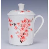 青花陶瓷杯子-景德镇杯子-骨瓷陶瓷杯子