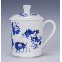 中秋礼品陶瓷-青花瓷骨瓷杯子-瓷器杯子