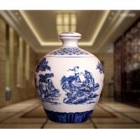 厂家直销5斤陶瓷酒瓶-青花瓷酒瓶