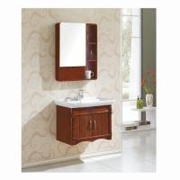 尺度卫浴-橡木浴室柜镜柜雕花欧式
