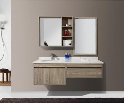 免漆多层实木浴室柜现代简约卫浴柜卫生间洗脸盆台盆