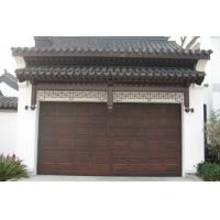 浙江理想门业制造沙龙365铝木上滑式车库门
