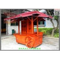 重庆贵州园林景观售货车木制仿古售货车公园广场售货车价格定制