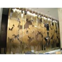 镂空雕刻不锈钢现代屏风,高端屏风隔断