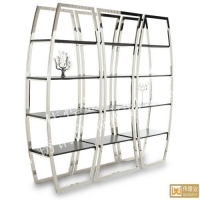 臻晶美高端不锈钢展示柜,时尚不锈钢展示架