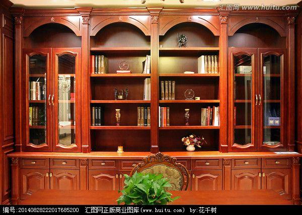 姆集成家居定制福州定做整体书柜吸塑定制整体实木书柜定做