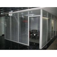 办公室双层玻璃加百叶玻璃隔断成品高隔间