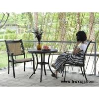 别墅庭院铸铝桌椅组合,六人位户外桌椅,铁艺餐桌椅