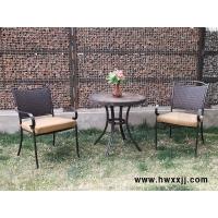美式乡村铸铝桌椅,仿古板岩桌椅,简约式石材桌椅