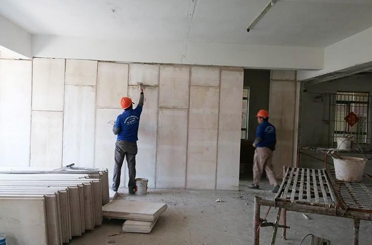 广东阳江水泥发泡聚笨颗粒轻质水泥隔墙板