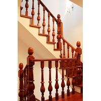 东升华兴红橡木实木楼梯立柱、楼梯扶手、踏步板
