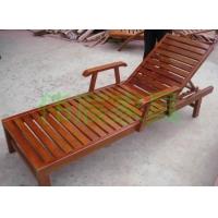 专业供应户外休闲实木躺床 沙滩椅 折叠睡椅