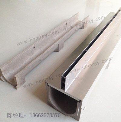 树脂混凝土线性排水沟体  缝隙式不锈钢线性排水盖板  承载