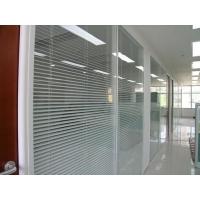 办公室铝合金双玻带百叶高隔断定制高隔间新疆厂家
