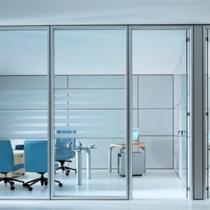 有框无框钢化玻璃多功能移动隔断墙