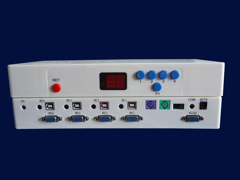 轩氏全自动KVM切换器 ps2全自动4口 电脑切换器
