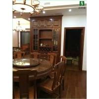 天津全实木家具进口北美樱桃木衣柜、酒柜、橱柜案例展示