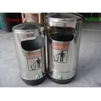 不锈钢单桶垃圾桶