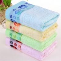 竹纤维格中格毛巾