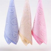 纯棉割绒卡通熊头童巾 婴幼儿小毛巾洗脸面巾