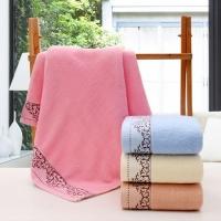 纯棉花冠浴巾 巾美佳毛巾