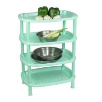 新款长方形四层厨房置物架多功能塑料防水储物架收纳架