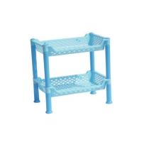 小号两层卫生间置物架塑料长方形防水收纳架