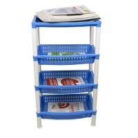 四层塑料书架置物架多功能沥水储物架