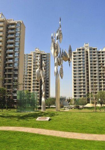 上海园林景观雕塑定制景观工程-零爵雕塑-九js艺术绘制字图片