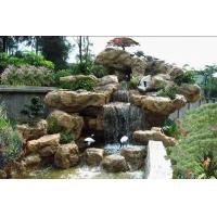 河南大型景观仿真假山雕塑 水景玻璃钢雕塑 树脂雕塑砂岩石雕