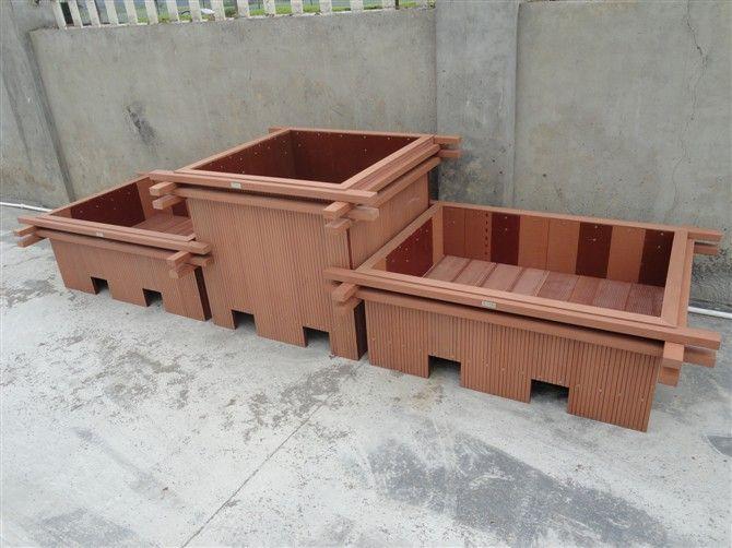 户外公园塑木花箱 公园花箱