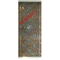 会所大堂背景墙装饰201焊接方管钛金不锈钢花格