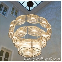 欧式LED水晶吊灯简约餐厅灯创意吊灯客厅水晶灯卧室楼梯灯具灯