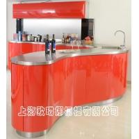 上海厨房整体橱柜定制不锈钢厨房厨柜不锈钢台面水槽一体成型定做
