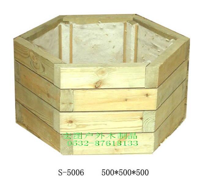 供应烟台防腐木花箱 花盆 花槽