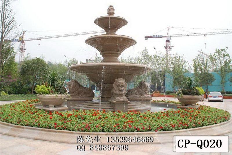 砂岩喷泉水景喷泉砂岩叠水盆水景雕塑图片