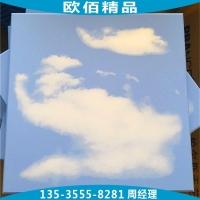 幼儿园吊顶蓝天白云铝扣板 游乐场蓝天白云扣板天花