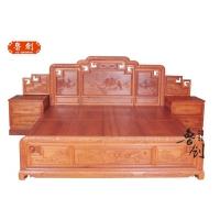 古典家具/红木家具/红木家具市场/实木床/红木大床