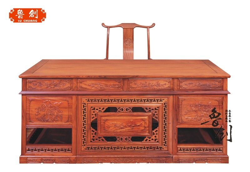 东阳市鲁创红木家具有限公司,是一家专业生产古典红木家具、东阳木雕的企业,公司红木家具均采用进口酸枝木、花梨木等优质红木原材料,经低温烘干处理,精雕细作而成。公司于1999年创建,是东阳红木家具行业中起步比较早的企业之一。由于经营理念领先,品质有保障,利用网络优势、借助人才的配合,经销商、代理商遍布全国各地,在武汉、苏州、济宁、贵阳、江西等地开起了多家专卖店,发展至今全国已拥有近百家商户。 公司集设计、生产、销售、服务于一体,选用优秀的设计人才和雕刻师傅,引进先进的生产设备,工序环环相扣,为精细化、流程化生