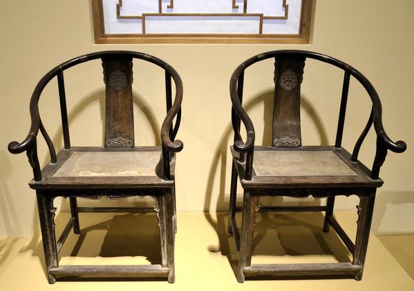 仿古中式明清家具、中式圈椅、官帽椅、书柜、间厅柜家具