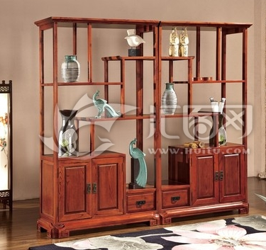 仿古明清,秦汉家具,中式实木床,床头柜,酒柜