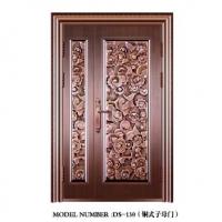 别墅铜式子母门-南京顶顺铜艺