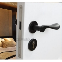 BOMA室内木门分体不锈钢静音磁力执手锁