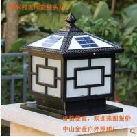 新农村太阳能柱头灯、别墅庭院灯